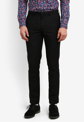 Topman black Skinny Suit Trousers TO413AA0SHBVMY_1