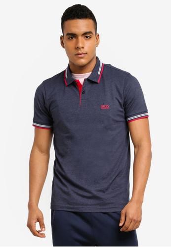 BOSS navy Paul Polo Shirt - Boss Athleisure F6BC4AAF632281GS_1