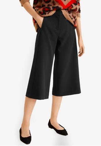Mango black Culottes Trousers FC9D7AA75A8799GS_1