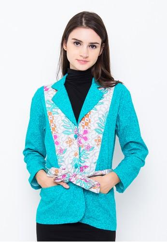 Batik Etniq Craft Blazer Obi Kombinasi Batik