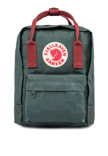 Fjallraven Kanken red and green Forest Green-Ox Red Kanken Mini Backpack FJ859AC71CSQSG_1