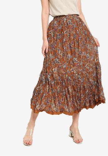 niko and ... brown Woven Skirt E5BF3AAEDC7E2DGS_1