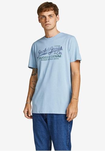 JACK & JONES blue Blubooster Short Sleeves Tee E2019AA779430EGS_1