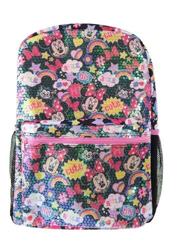 Disney Minnie black Disney Minnie Mouse Sequin Black Teen Backpack 280F1KC31CEAF2GS_1