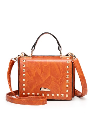 Lara brown Women Small Flapfront Top Handle Bag 4A5E8AC63191D5GS_1