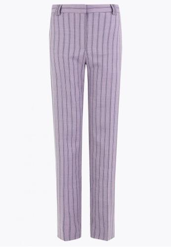MARKS & SPENCER multi Freya Straight Striped Trousers E822EAA0F9B733GS_1