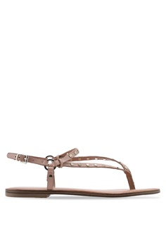 official photos a7359 8fe73 ALDO beige Filanna T-Strap Sandals FD236SHC34014AGS 1