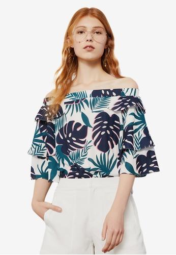 a4232c69d32 Shop Hopeshow Floral Off Shoulder Blouse Online on ZALORA Philippines