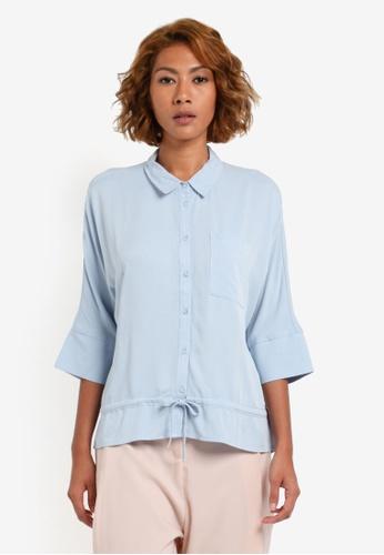 Vero Moda blue Amara Peplum Shirt VE975AA0S41BMY_1