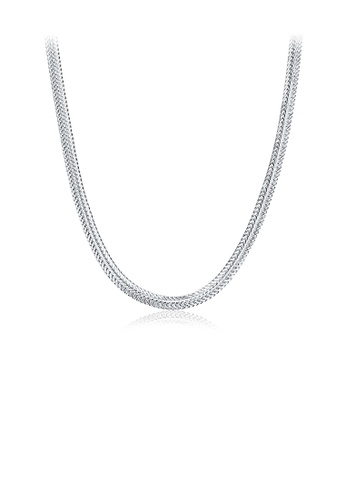Glamorousky silver Simple Necklace For Ladies 87E36AC3497422GS_1