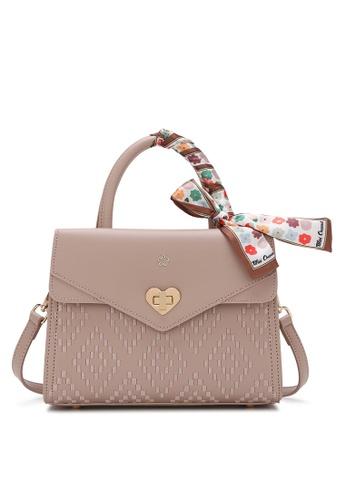 Wild Channel pink Scarf Top Handle Bag D3FFDAC562F599GS_1