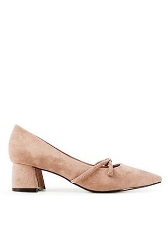 Twenty Eight Shoes 尖頭蝴蝶結高踭鞋 999-3 542ECSH3D0BC61GS_1