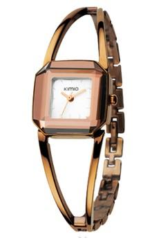 KIMIO Women's White Dial Copper Strap Watch K463