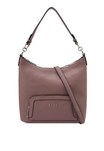 ELLE purple Nancy Shoulder Bag EL900AC0SRTUMY_1