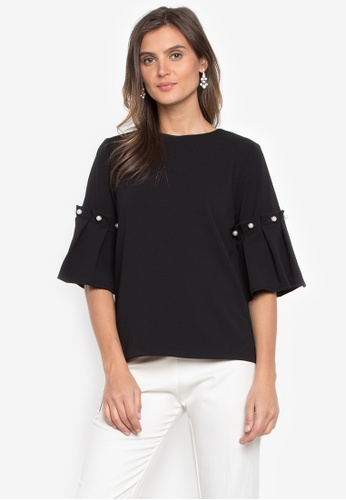 CANVAS black Ardee Bell sleeve with Pearl design F91AAAAFB07044GS_1