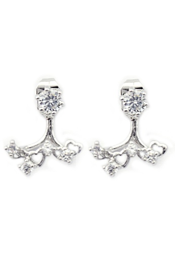 YOUNIQ silver YOUNIQ-Basic Korean CZ Sun Earring (Silver) YO999AC78TJDMY_1