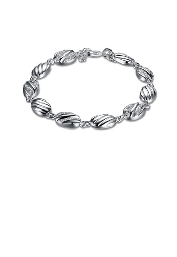 Glamorousky white Simple and Fashion Geometric Oval Bracelet with Austrian Element Crystal CA89AAC258B80EGS_1