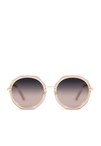 ASLLY pink and multi and gold Mermaid's Whisper│Pink Round Sunglasses 6F9D7GL33928A1GS_1