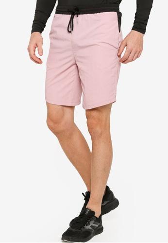ZALORA ACTIVE pink Contrast Band Basketball Shorts D8577AAF1EA0E2GS_1