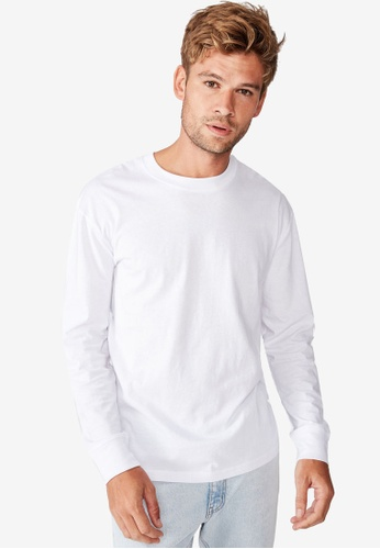 Cotton On white TBar Long Sleeve T-Shirt 4C7A9AA028058EGS_1