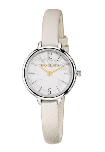 Morellato white Petra Quartz Watch R0151140513 White Leather Strap 2168BAC2350C64GS_1