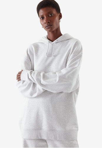 Cos grey Oversized-Fit Hoodie 6C640AAC7B1014GS_1