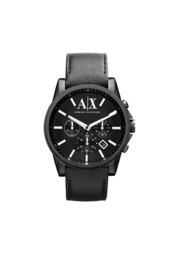 Outesprit hk outleterbanks三眼計時腕錶 AX2098, 錶類, 紳士錶