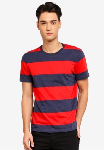GAP red Everyday Stripe T-Shirt A2BEFAA197D750GS_1