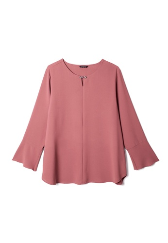 MS. READ pink MS. READ Bell Sleeve Top (PINK) E28CFAA5208606GS_1