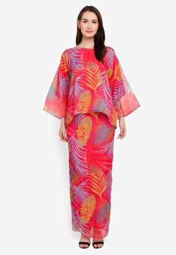 Zuco Fashion pink Midi Kurung Kedah Organza 34913AA72E63A6GS_1