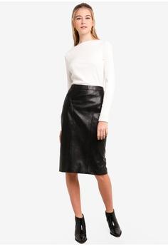 238354d80a Dressing Paula Faux Leather Pencil Skirt RM 139.90. Sizes XS S M L XL