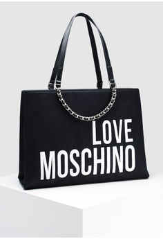 cd752ee109ff Love Moschino Canvas Tote Bag HK  2