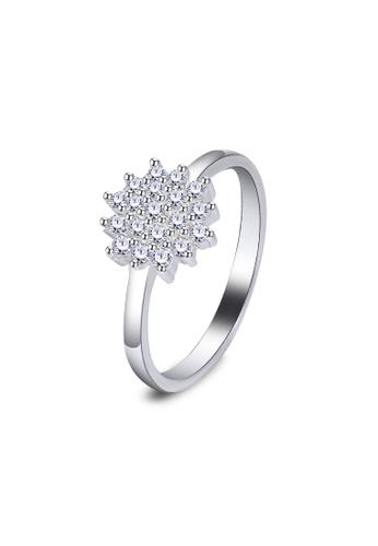 SC Tom Silver silver Flower Ladies Stone Ring-RSL043 SC872AC01JYWPH_1