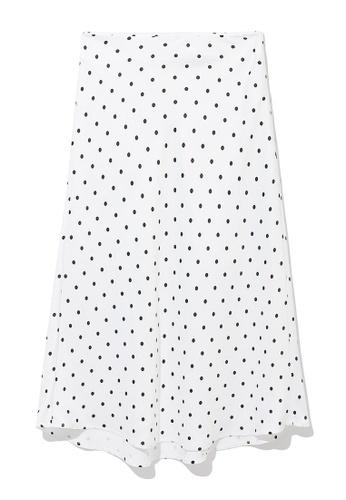 b+ab white High-waisted gathered skirt D53D4AA23CAD83GS_1