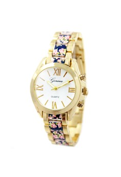 Geneva Mary Floral 4 Stainless Steel Watch BUS084