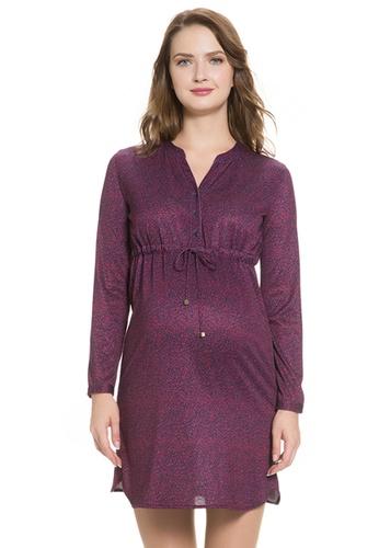 4744dea1d46d2 Buy Mayarya Print Maternity and Nursing Shirt Dress | ZALORA HK