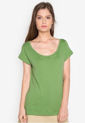 Organic green Deep Round Neck Shirt OR165AA0J28WPH_1