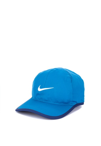 Nike blue Nike Court Aero Bill Featherlight Tennis Cap 84C80ACECE6270GS 1 3818e0f1b2f