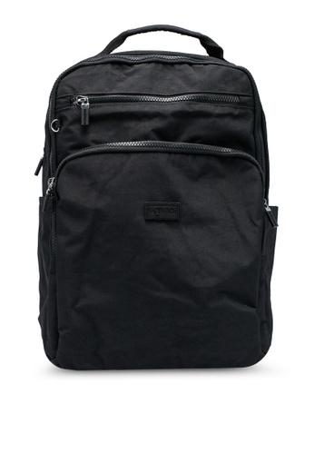Bagstationz black Crinkled Nylon Backpack E6D87AC3A70D6FGS_1