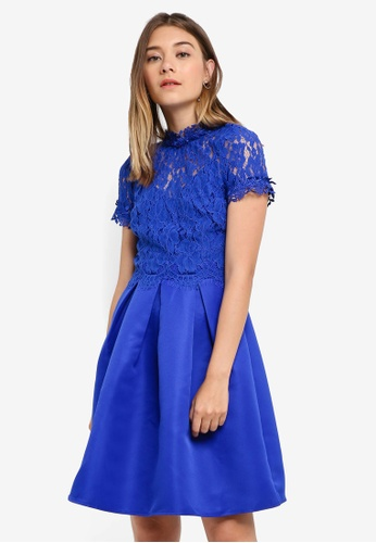 Little Mistress blue Cobalt Lace Dress C946CAA421FF83GS_1