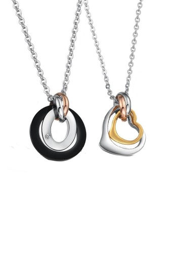ADORA multi Stainless Steel Couple Necklace 600ADAC94186D1GS_1