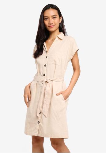 f4dbe54cd55 Buy Dorothy Perkins Stone Short Sleeve Linen Shirt Dress Online on ZALORA  Singapore