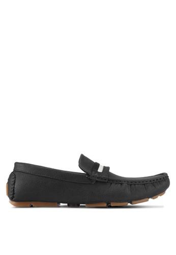 UniqTee black Slip On Loafer With Strap 57320SHC9E624BGS_1