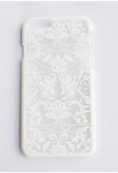 Floral Damask Hard Transparent Case for iPhone 6/6s
