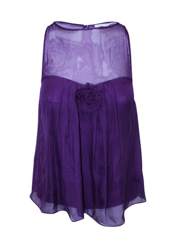 Rebecca Taylor 紫色 二手 rebecca taylor 紫色真絲上衣 06CFBAA5BF490FGS_1