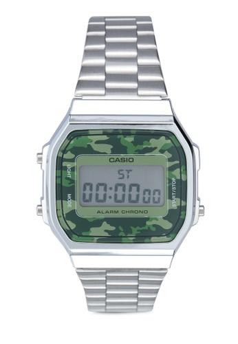 Casio silver Casio A168WEC-3DF Watch 21C61ACF9A0E1AGS_1