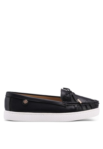 Carlton London black Bow Front Loafers 0BD4ASH97CD9F3GS_1