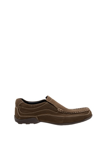 SEMBONIA brown Men Nubuck Leather Loafer AD059SHB310887GS_1