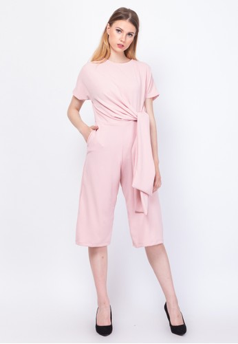 INSTYLE BY SURI pink Ianthe Jumpsuit Peach 65CC3AA11B2321GS_1