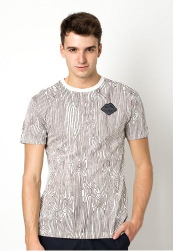Bloop Tshirt Mb Wood Black White BLP-OG166*